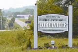 Welcome to Lobelville, looking south on Hwy 412